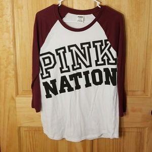 Vs PINK baseball T-shirt- Size M